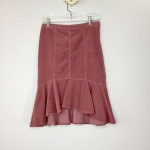 Pilcro and The Letterpress Corduroy ruffle skirt